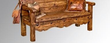 Rustic San Miguel Bench.